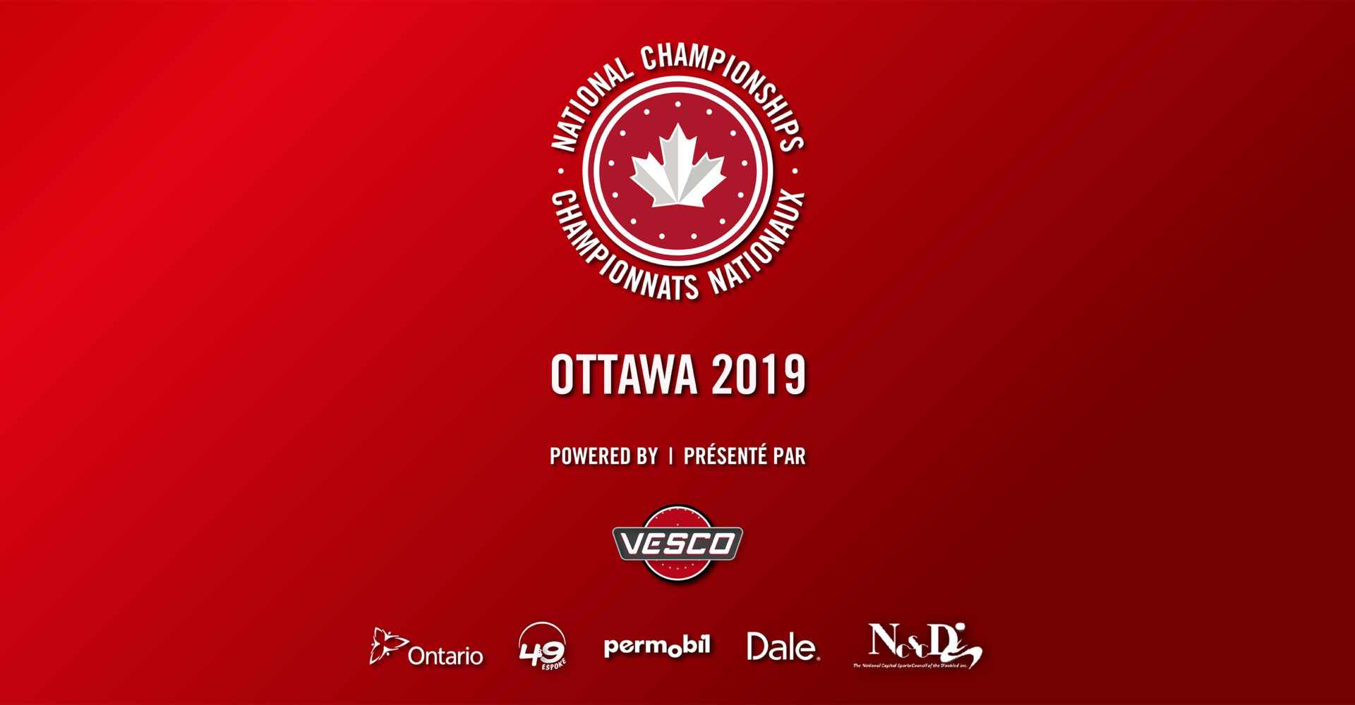 OTTAWA TO HOST THE 2019 NATIONAL CHAMPIONSHIPS – POWERED BY VESCO