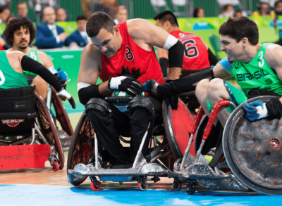 SENSE OF COMMUNITY KEEPS WHEELCHAIR RUGBY'S MIKE WHITEHEAD IN-BOUNDS