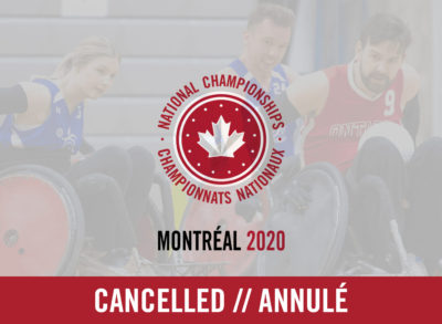 2020 Wheelchair Rugby National Championships Cancelled